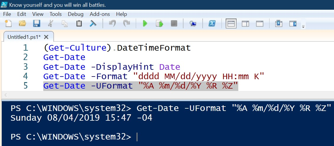 Get-Date powershell command